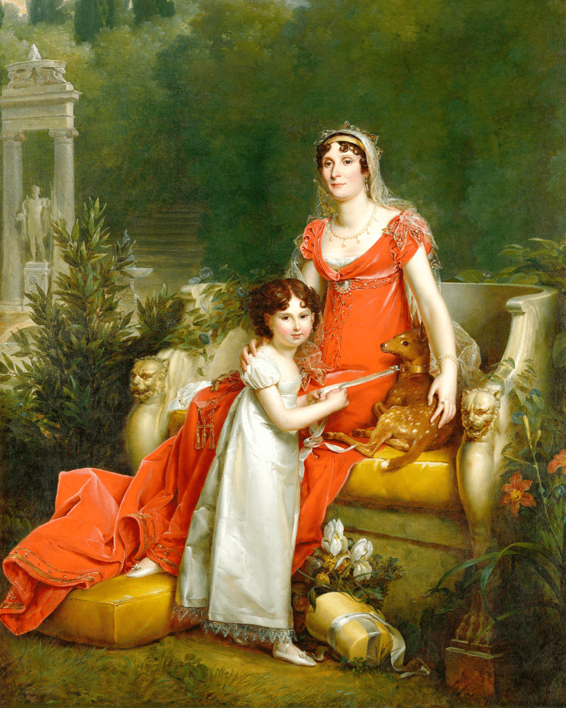 insta-elisa-bonaparte-with-her-daughter-napoleona-baciocchi-francois-gerard
