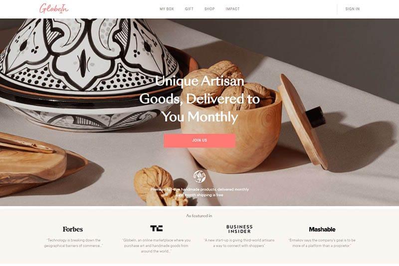globein - artwork subscription box