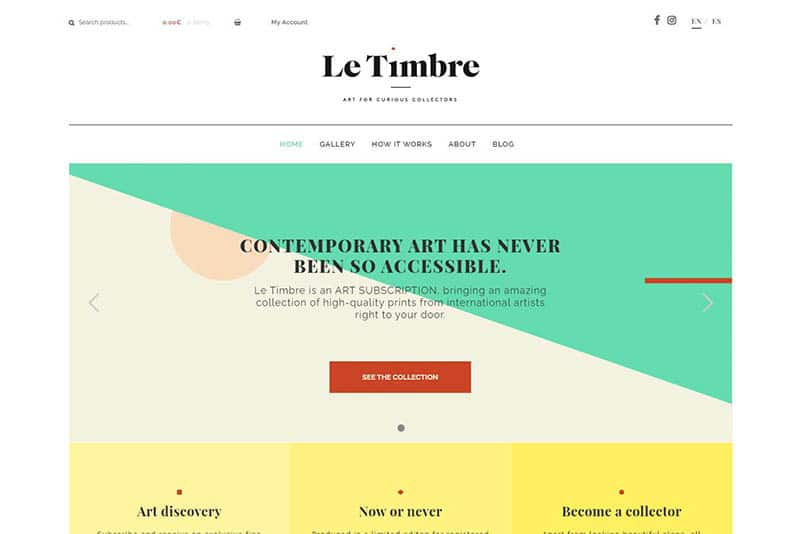 le timbre - artwork subscription box